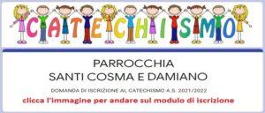 Iscrizione catechismo 2021-2022